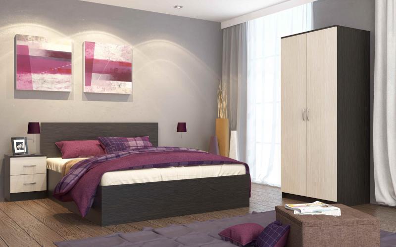 Спальня Ронда (беленый дуб)