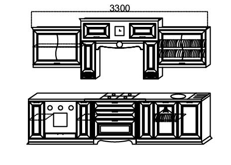 Кухни Сан-Марино 3300 схема