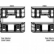 Кухни Сан-Марино 3300x2900 схема