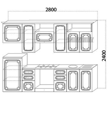 Кухня Изабель II 2700 схема