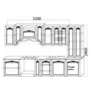 Кухня Сабрина 3200 схема 2