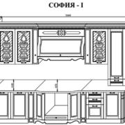 Кухня София 1 схема