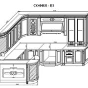 Кухня София 3 схема