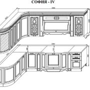 Кухня София 4 схема