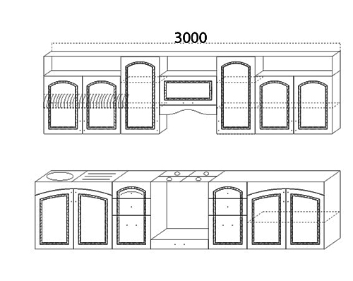 Кухня Виктория 3000 схема