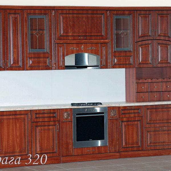 """Кухня """"Прага"""" 320 (Белый Ясень/Орех)"""