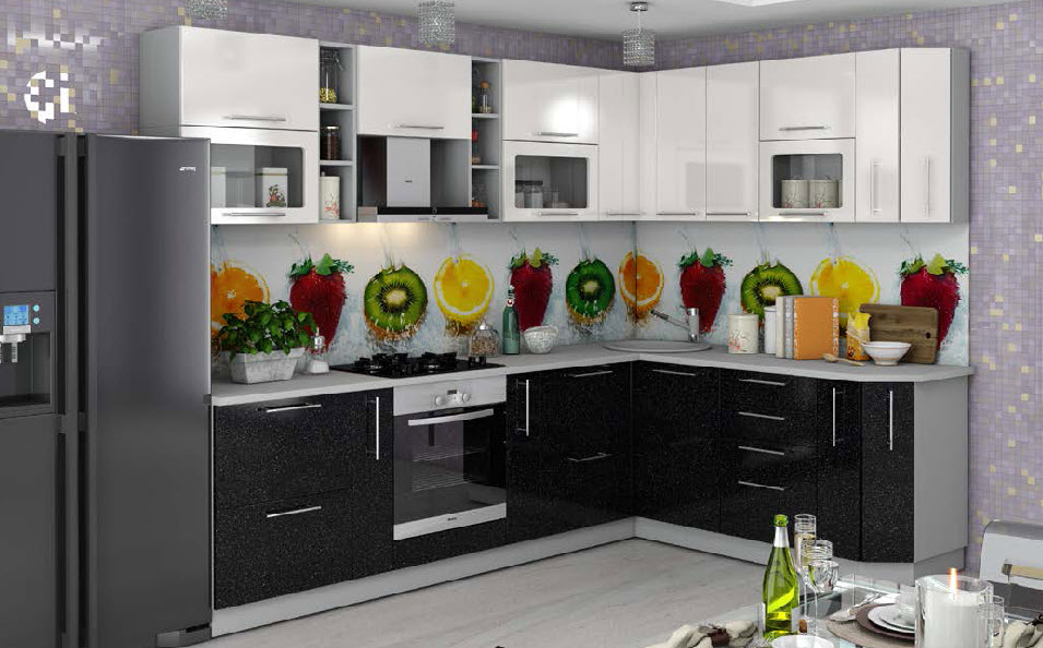 «София Черно Белая» Модульная кухня