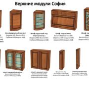 Верхние модули кухни София