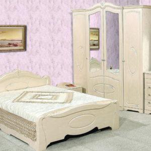 Спальня «Валенсия» ПВХ Бежевый глянец