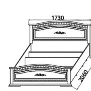 Спальня «Венера» кровать тумбочка комод