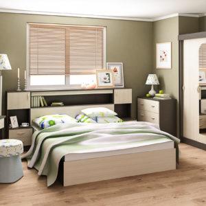 Спальня Бася (венге беленый дуб)