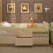 Дельфин Детская кровать МДФ 1,6 (ваниль + белфорт)