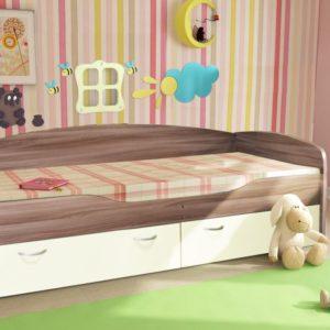 Кровать - 2 Бриз ясень темный ваниль