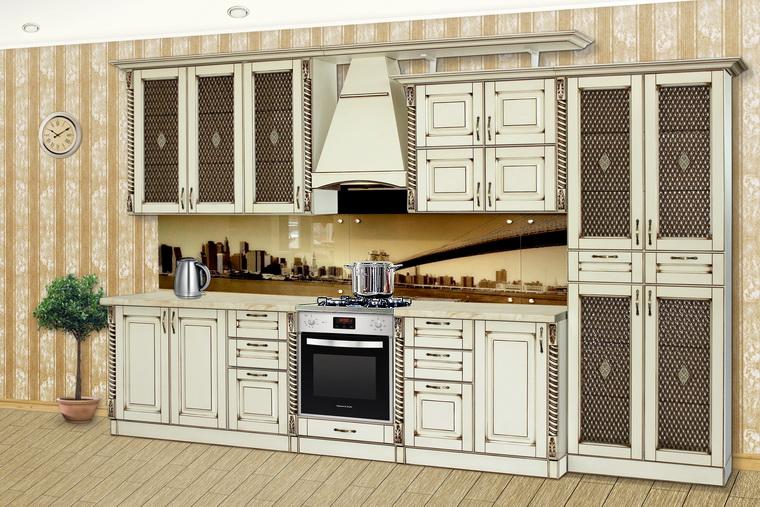 Кухня «Жасмин» NEW L360 слоновая кость