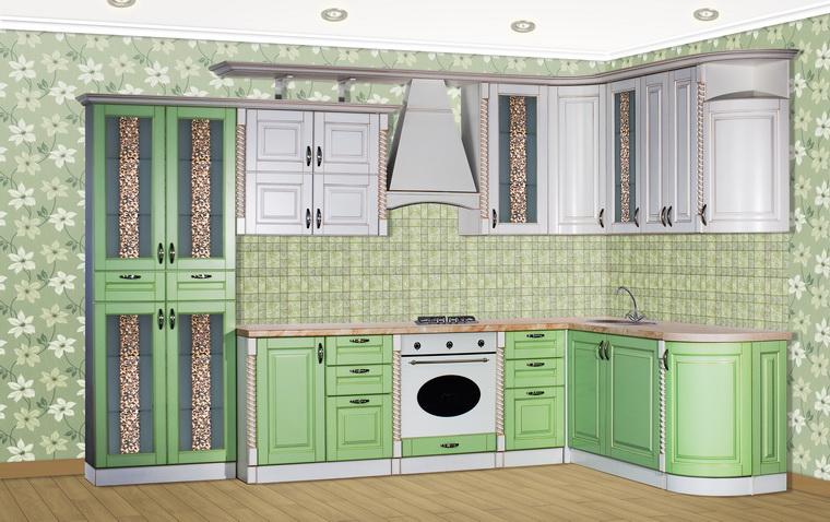 Кухня «Жасмин» радиусная угловая NEW