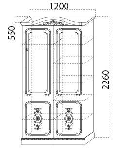 Шкаф-комби «Глория» размеры