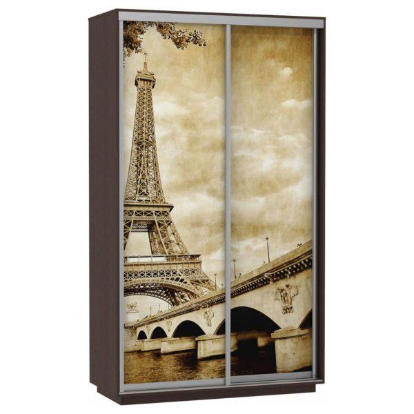 Шкаф купе 2-х дверный Фото Хит париж венге