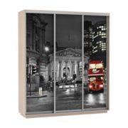 Шкаф купе 3-х дверный Фото Хит ночной лондон дуб молочный