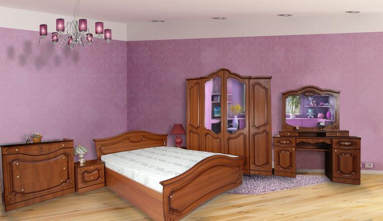 Спальня «Анастасия» 4-х дв. (комод + трельяж)