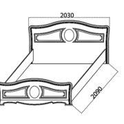 Спальня «Азалия» кровать