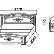 Спальня  «Диана» кровать