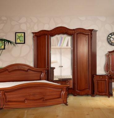 Спальня «Эмилия» ПВХ крашеный Орех Пегас