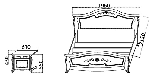 Спальня «Эмилия» кровать