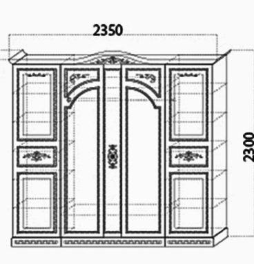 Спальня «Флоренция» шкаф