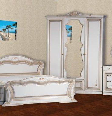 Спальня «Катрин» 3-х дв. ПВХ крашеная Белая