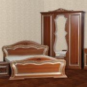 Спальня «Катрин» 3-х дв. ПВХ крашеная Орех