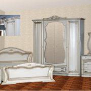 Спальня «Катрин»  4-х дв.  ПВХ  крашеная Белая