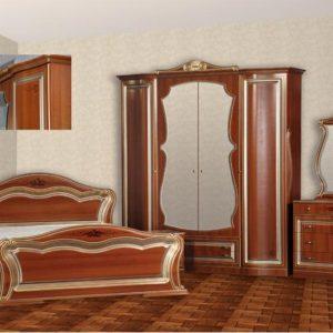 Спальня «Катрин» 4-х дв. ПВХ крашеная Орех