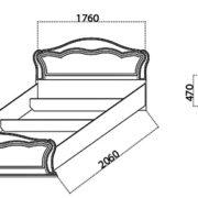 Спальня «Катрин» кровать