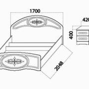 Спальня «Медея» кровать