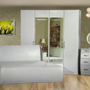 Спальня «Модена» Белый глянец