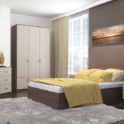 Спальня Ронда с Шкафом трехстворчатым ясень