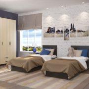 Спальня Ронда с односпальными кроватями
