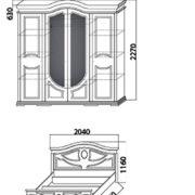 Спальня «Салита ( Шанхай )» шкаф кровать