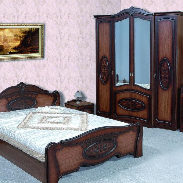 Спальня «Валенсия» 4-х дв. Орех