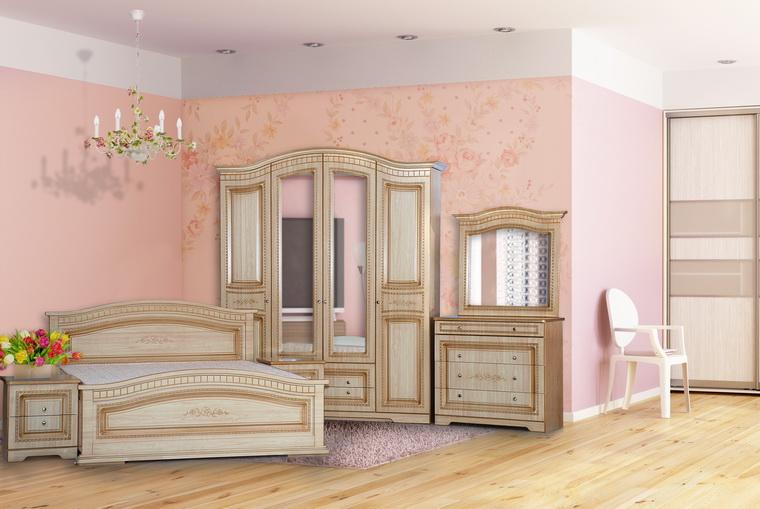 Спальня «Венера» 4-х дв. крем