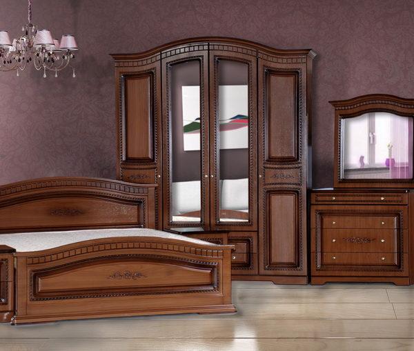 Спальня «Венера» 4-х дв. орех