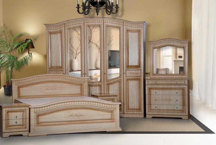 Спальня «Венера» 5-ти дв. ПВХ крем