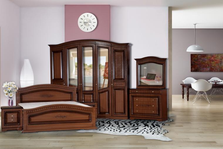 Спальня «Венера» 5-ти дв. ПВХ орех