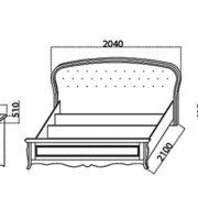 Спальня «Vicenza» кровать