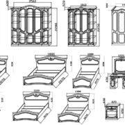 Спальня модульная «Анастасия»