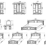 Спальня модульная «Азалия» модули