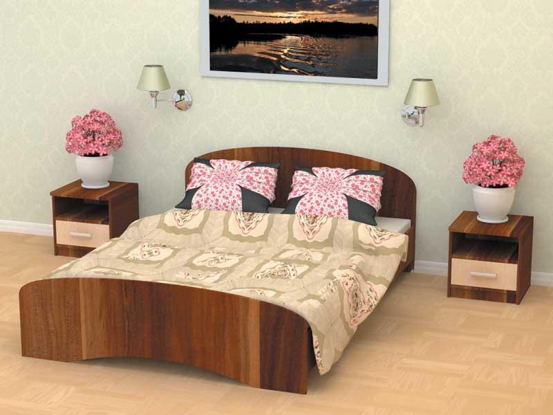 Кровать двуспальная 140х2