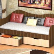 Кровать с ящиками 90х2 БОКС