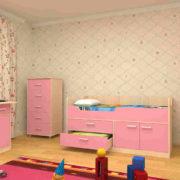 Набор детской мебели ЛУНТИК пинк