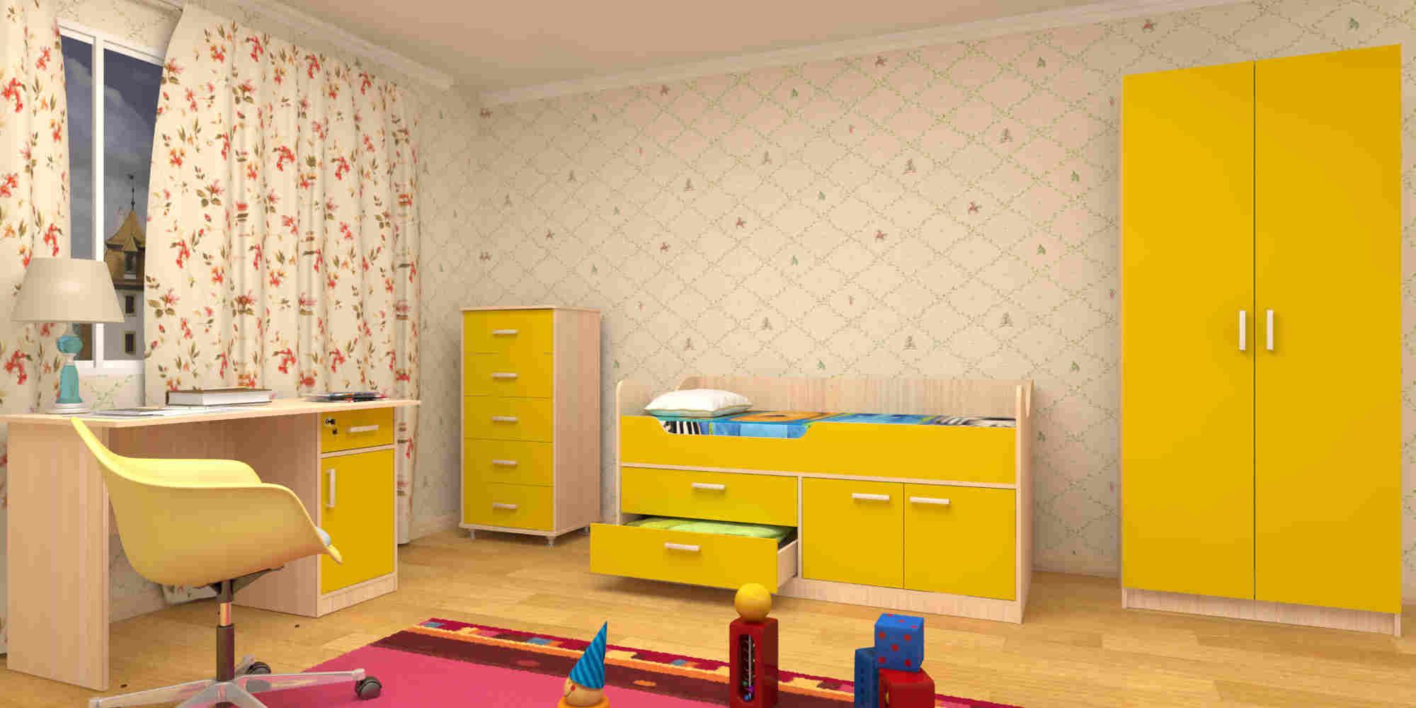 Набор детской мебели ЛУНТИК желтый